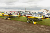 G-RUNT @ EGBG - A pair of Cassutt Racers at Leicester on the All Hallows Day Fly-in