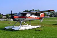 C-FJED @ CKC5 - Luscombe 8E Silvaire Deluxe [5868] Selkirk~C 25/07/2008. Seen here at Selkirk Sea Plane Base. - by Ray Barber