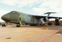 87-0030 @ MHZ - C-5B Galaxy of the 60th Military Airlift Wing in the static park of the 1989 Mildenhall Air Fete. - by Peter Nicholson