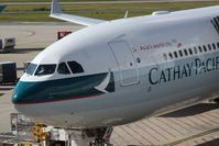 B-LAI @ BNE - Cathay Pacific Airbus - Nose detail - by rkc62