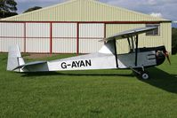 G-AYAN @ FISHBURN - Cadet III Motor Glider at Fishburn Airfield, UK in 2008. A 'Martins Conversion' (after Peter Martin) of a Slingsby T-31 Cadet Mklll Glider consisting of the removal of the front cockpit and addition of a fuel tank and the mounting of a 1600cc VW engine. - by Malcolm Clarke