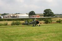 G-AYAN @ FISHBURN - Cadet lll Motor Glider (Slingsby T-31 conversion) at Fishburn Airfield, UK in 2008. - by Malcolm Clarke