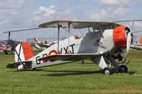 G-BVXJ @ EGCJ - CASA 1-133C Jungmeister at Sherburn-in-Elmet Airfield, UK. - by Malcolm Clarke