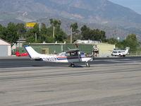 N8388Z @ SZP - 1963 Cessna 210-5 (205) UTILINE (fixed gear version of 210C) Continental IO-470-E 260 Hp, crossing Rwy 22 - by Doug Robertson