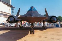 61-7980 @ MHZ - SR-71A Blackbird of Detachment 4 of the 9th Strategic Reconnaissance Wing on display at the 1988 Mildenhall Air Fete. - by Peter Nicholson