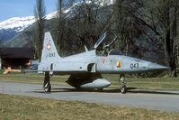 J-3043 @ LSMJ - The last Wiederholungskurs at Turtmann showed quite a lot F-5's wearing the ground personnel FPlAbt 3 badge.
