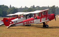 D-EEAJ @ WOBURN - De Havilland DH-82A Tiger Moth II.  At the De Havilland Tiger Moth Rally held in the grounds of Woburn Abbey in 1995. - by Malcolm Clarke