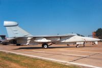 66-0031 @ MHZ - EF-111A Raven of 42nd Electronic Combat Squadron/66th Electronic Combat Wing at RAF Upper Heyford on display at the 1988 Mildenhall Air Fete. - by Peter Nicholson