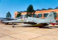242 @ MHZ - F-5B Freedom Fighter of 336 Skv Royal Norwegian Air Force on display at the 1988 Mildenhall Air Fete. - by Peter Nicholson