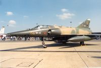 BR03 @ MHZ - Belgian Air Force Mirage 5BR of 42 Squadron in the static park at the 1988 Mildenhall Air Fete. - by Peter Nicholson