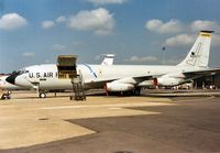 58-0077 @ MHZ - KC-135Q Stratotanker of 9th Strategic Reconnaissance Wing at Beale AFB on display at the 1988 Mildenhall Air Fete. - by Peter Nicholson