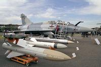BY2 @ EGLF - Dassault Mirage 2000-5B at Farnborough International 1990 - by Malcolm Clarke