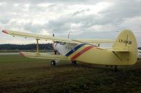 LY-AKB @ ESKD - Polish-built An-2R at Dala-Järna airfield, Sweden - by Henk van Capelle