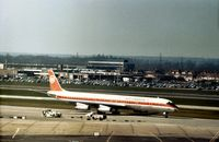 CF-TIQ @ LHR - DC-8-63 of Air Canada taxying to the terminal at Heathrow in March 1975. - by Peter Nicholson