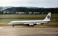N761PA @ PIK - Pan Am's Boeing 707-321B named Clipper Friendship taxying to the terminal at Prestwick in the Summer of 1972. - by Peter Nicholson