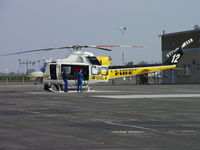 N120LA @ POC - Doors open and waiting for patient, who is enroute - by Helicopterfriend