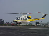 N120LA @ POC - Patient on board and lift off for a westerly departure - by Helicopterfriend
