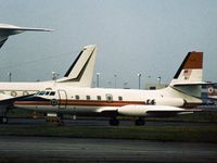 N1 @ LHR - Frankfurt based FAA Jetstar 6 parked at Heathrow in September 1978. - by Peter Nicholson