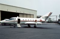 N10MT @ ABE - Falcon 20F seen at Allentown in the Summer of 1976. - by Peter Nicholson