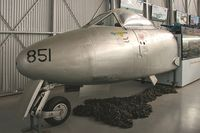 A77-851 @ P ADELAIDE - Gloster Meteor U21A. 'Halestorm'. Flown by Sgt George Hale, RAAF 77 Sqn who, on 27-03-1953, made the only Mig kill by a Meteor in Korea. At the South Australian Air Museum in 2007. - by Malcolm Clarke