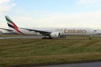 A6-EBV @ EGBB - Emirates B777 arrives at Birmingham