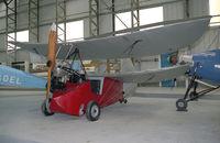 BAPC012 @ E FORTUNE - Mignet HA.14 Le Pou du Ciel. 'Flying Flea' replica at the Museum of Flight, East Fortune, UK in 1993. - by Malcolm Clarke