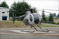 N11056 @ 0WN4 - N11056 on the ground at Olympia Heliport, WA - by jlboone