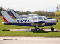 G-ATDA @ EGBS - seen @ Shobdon - by castle