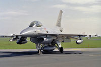 274 @ EGXW - General Dynamics F-16A Fighting Falcon at RAF Waddington's Photocall 1990 - by Malcolm Clarke