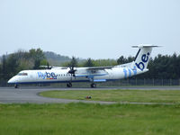 G-ECOW @ EGPH - Flybe Dash8Q-402 on runway 24 - by Mike stanners