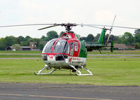 G-BTKL @ EGTC - MBB BO-105DB-4 at Cranfield Airport in 2004. - by Malcolm Clarke