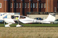 G-SFLY @ EGTC - Diamondstar at Cranfield