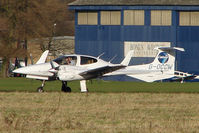 G-OCCW @ EGTC - Diamond Twinstar climbs away from Cranfield