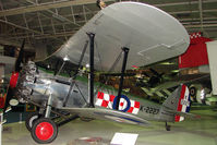 K2227 - Bristol Bulldog MKIIA exhibited in the RAF Museum Hendon , UK