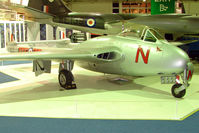 VT812 - De Haviland Vampire F3 exhibited in the RAF Museum Hendon , UK