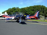ZF317 @ ADX - 1FTS Tucano seen here at RAF Leuchars in this smart colour scheme - by Mike stanners