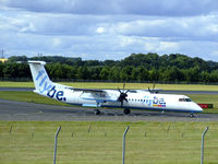 G-FLBB @ EGPH - one of Flybe's new Dash8Q-402 arrives at EDI - by Mike stanners