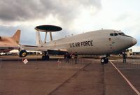 82-0006 @ EGVA - E-3C Sentry, callsign Seiko 52, of the 552nd Airborne Warning & Control Wing on display at the 1991 Intnl Air Tattoo. - by Peter Nicholson