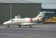 OO-SKA @ EGBJ - Cessna 525A at Staverton Airport