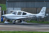 G-CGRD @ EGBJ - Cirrus SR22 at Staverton