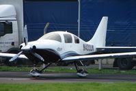 N400UK @ EGBJ - Lancair LC41-550FG at Staverton
