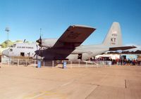 63-7856 @ EGQL - C-130E Hercules, callsign Hobby 13, of the 815th Airlift Squadron/403rd Airlift Wing on display at the 1997 RAF Leuchars Airshow. - by Peter Nicholson