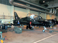 XX265 @ EGXE - British Aerospace Hawk T1A in the 100 Sqn hangar at RAF Leeming in 2004. - by Malcolm Clarke