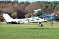 G-BRND @ EGBD - Cessna 152 off on a training flight from Derby Eggington