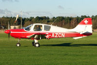 G-AZCN @ EGBD - Beagle Pup at Derby Eggington still showing signs of its Swiss past
