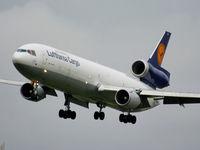 D-ALCI @ EGCC - Lufthansa Cargo - by Chris Hall