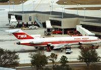 N54340 @ TPA - Boeing 727-231 of Trans-World Airlines at the terminal at Tampa in January 1990. - by Peter Nicholson