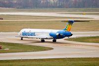 N868GA @ KPIA - Allegiant Airways (N868GA) crosses runway 22 at Peoria Illinois - by Thomas D Dittmer