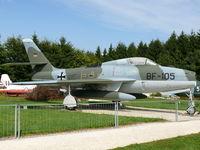 BF-105 - Republic F-84F Thunderstreak BF-105 German Air Force in the Hermerskeil Museum Flugausstellung Junior - by Alex Smit