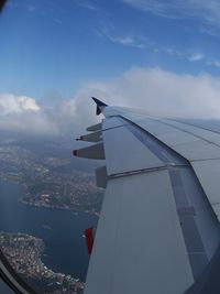 F-WWJB @ LTBA - Bosphorus from the window of A380 approaching to Istanbul - by aeroengineer1